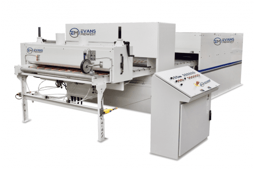 Evans Midwest CLS 400/500 Waterbase Laminating System With Fixed Spray Guns
