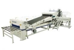 Evans Midwest CLS 400/500 O&U Water-Base Laminating System With Two Over & Under Glue Spreaders